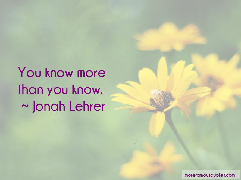 More Than You Know Quotes Pictures 2