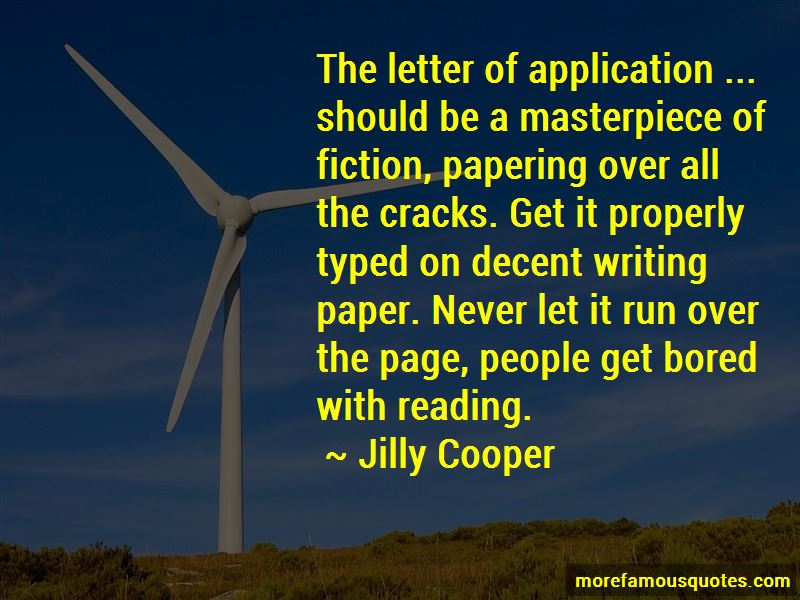 Quotes About Application Letter