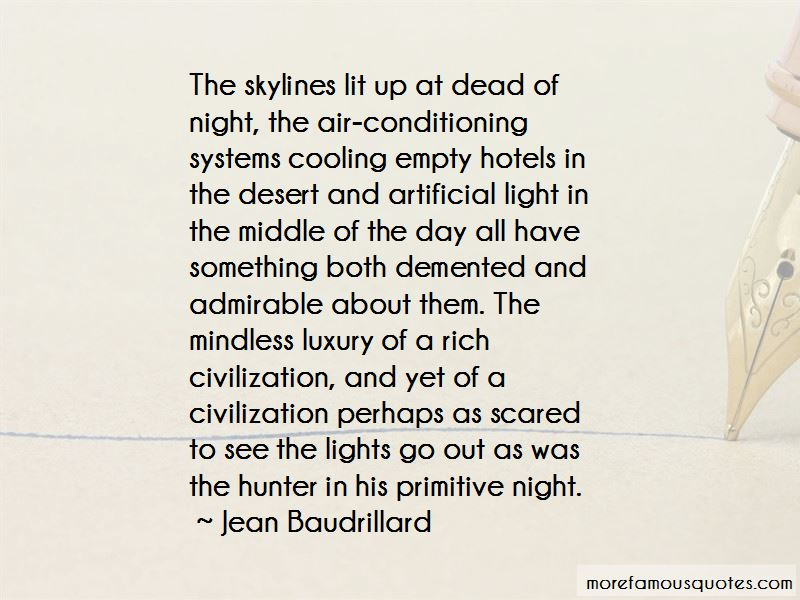 Quotes About Artificial Light