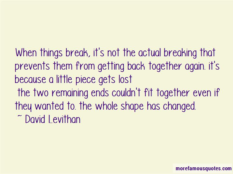 Quotes About Breaking Up And Getting Back Together: top 2 ...