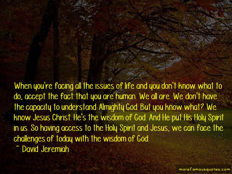 Quotes About Facing Challenges With God