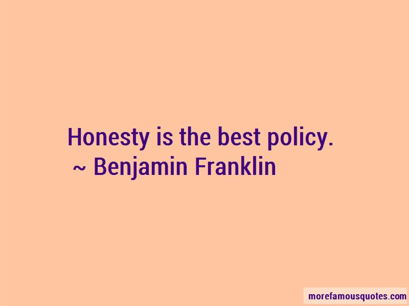 Quotes About Honesty Is The Best Policy