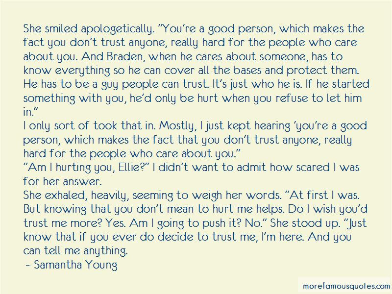 Hurting Someone You Care About Quotes Pictures 3