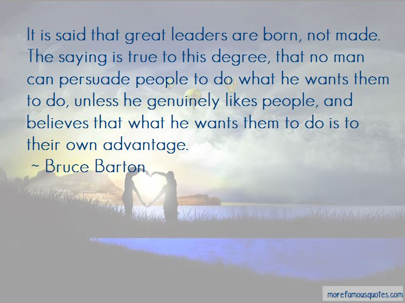 great leaders are made not born quote