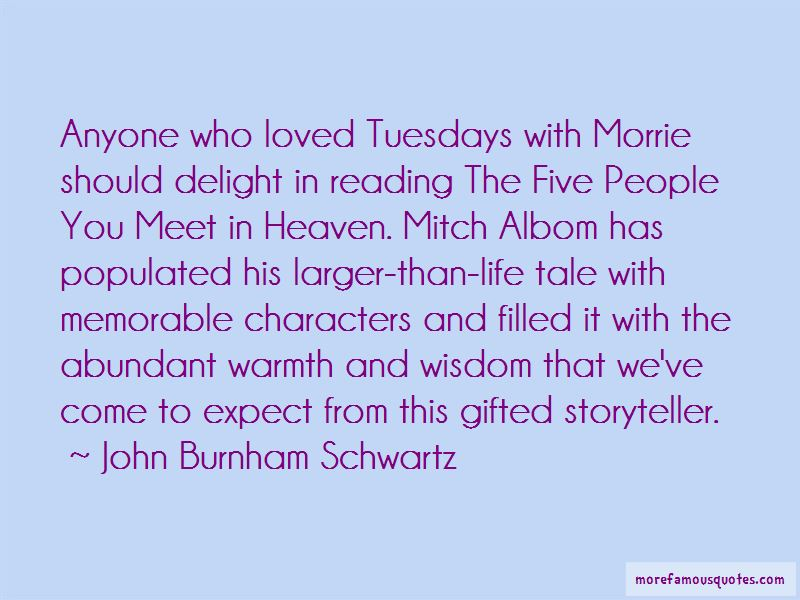 Quotes About Mitch Albom