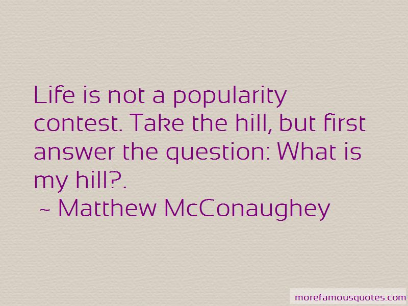 Quotes About Popularity Contest