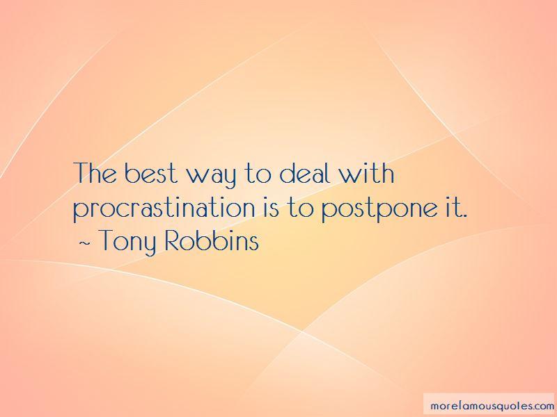 Procrastination Quotes Pictures 2