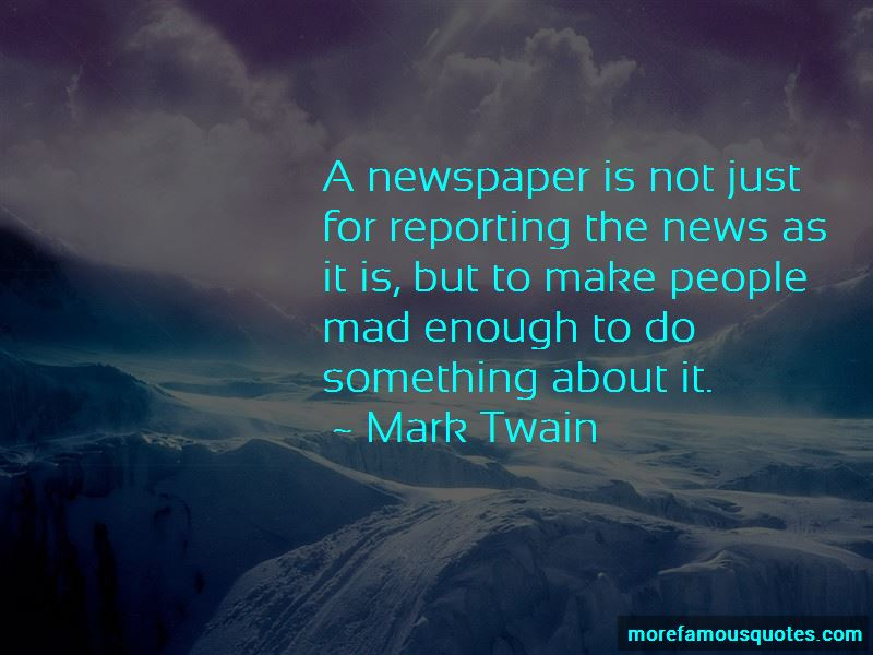 Quotes About Reporting The News