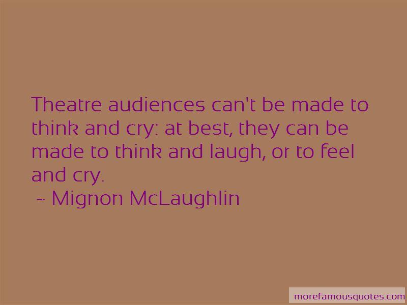 Quotes About Theatre Audiences