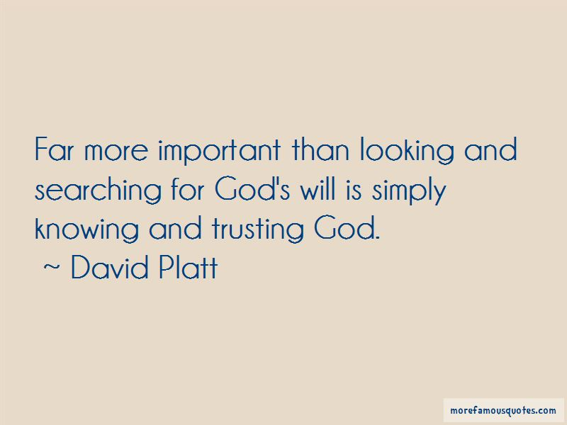 Quotes About Trusting God