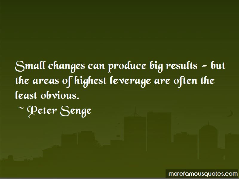 Small Changes Big Results Quotes