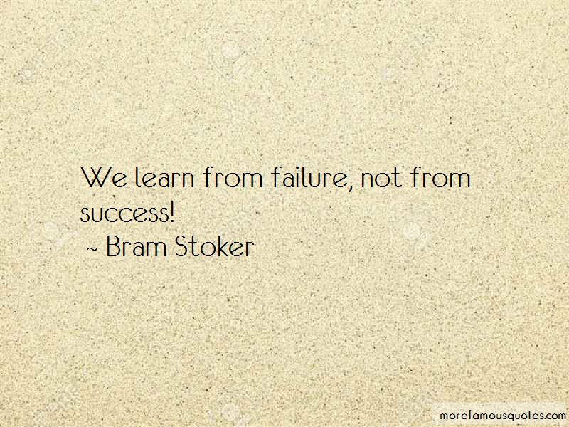 We Learn From Failure Quotes
