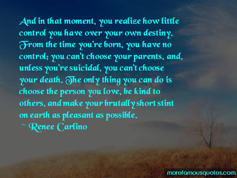 You Can't Choose Your Parents Quotes
