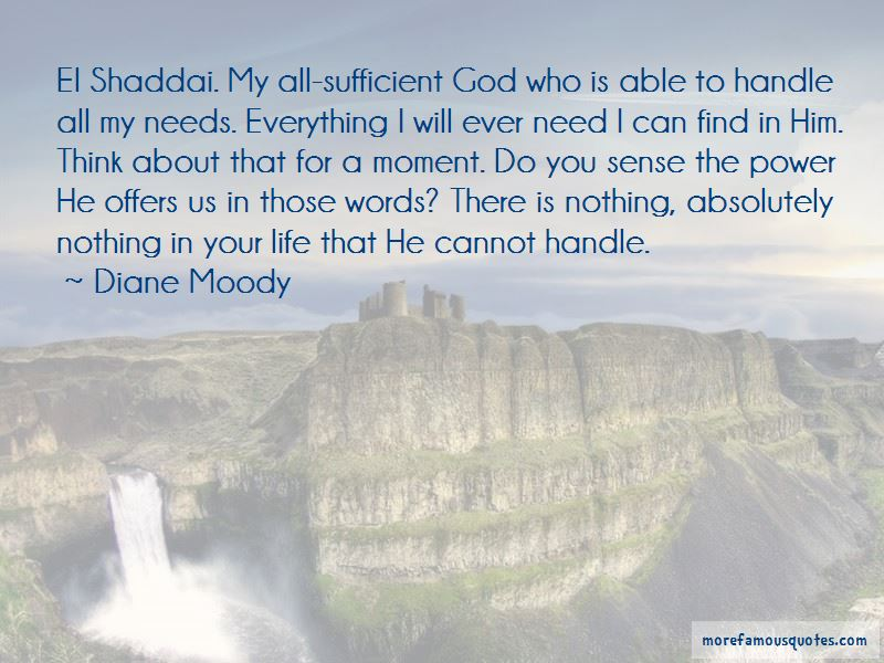 All Sufficient God Quotes