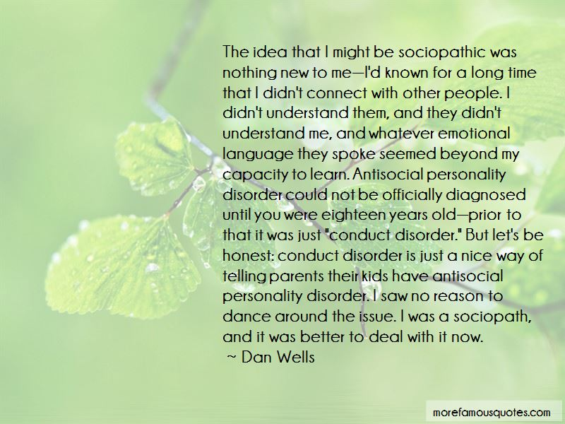 Antisocial Disorder Quotes