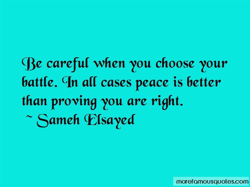 choosing your battles