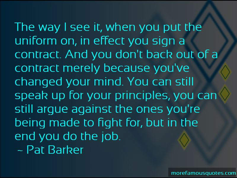 Don't Back Out Quotes