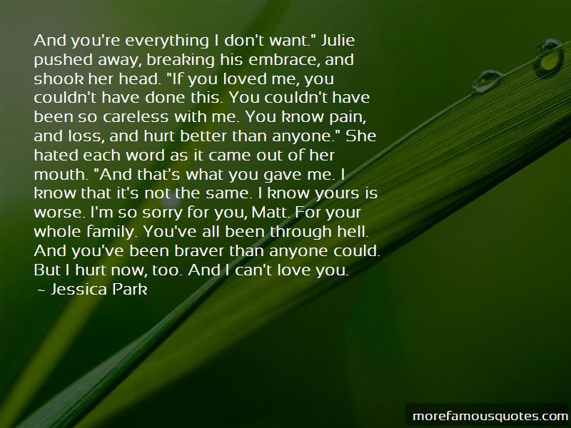 I Can't Love You Quotes