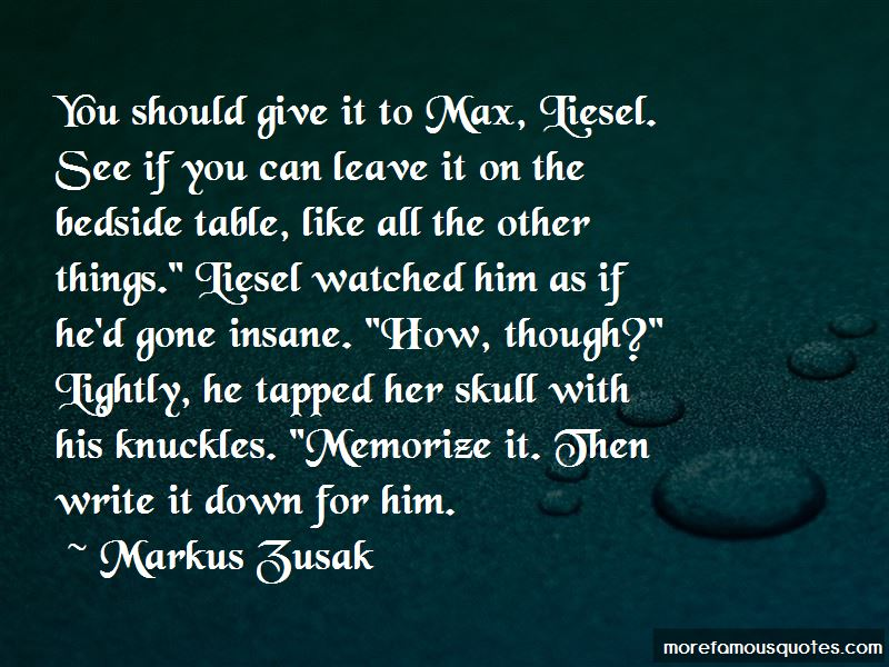 Max Liesel Quotes