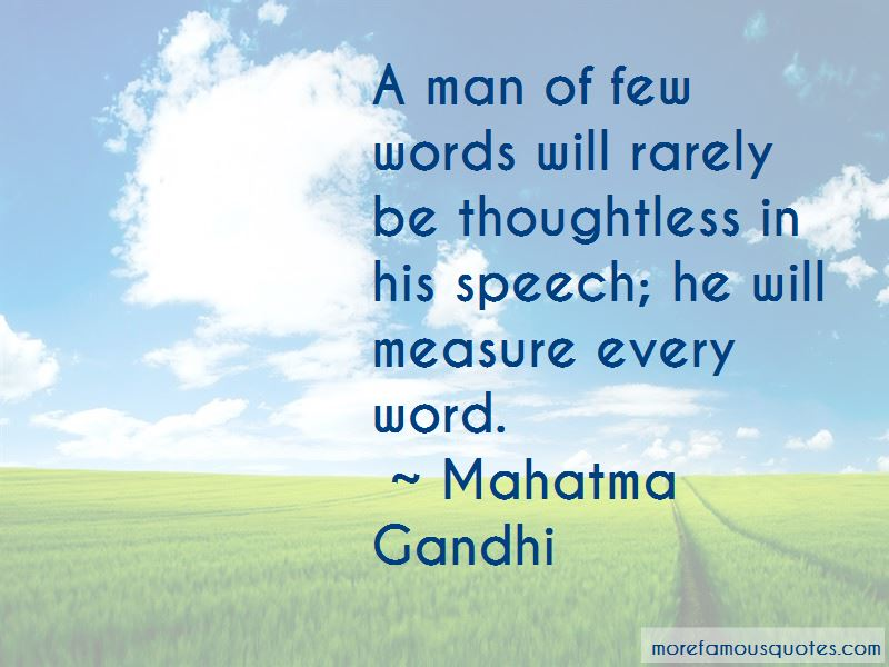 Quotes About A Man Of Few Words