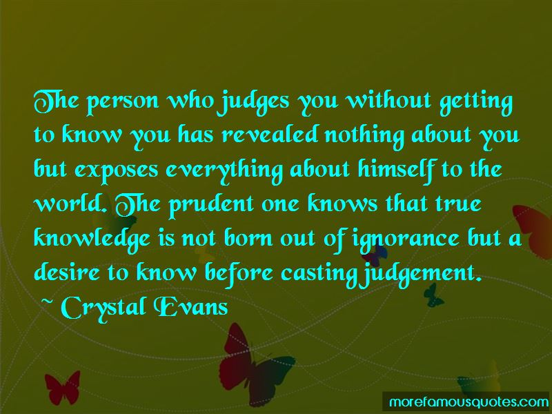 Quotes About Casting Judgement