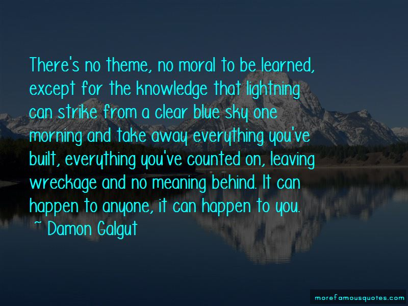 Quotes About Clear Blue Sky