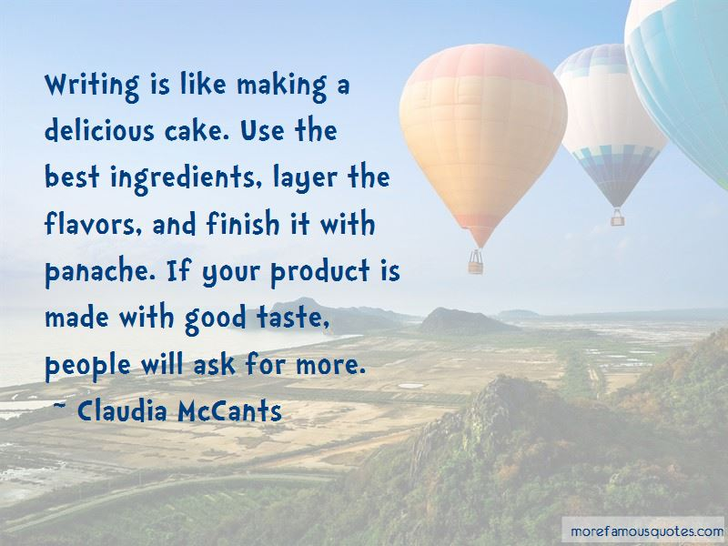 Quotes About Delicious Cake