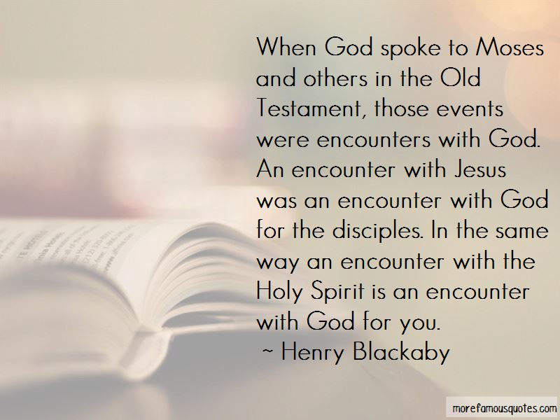 Quotes About Encounters With God