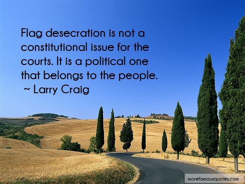 Quotes About Flag Desecration