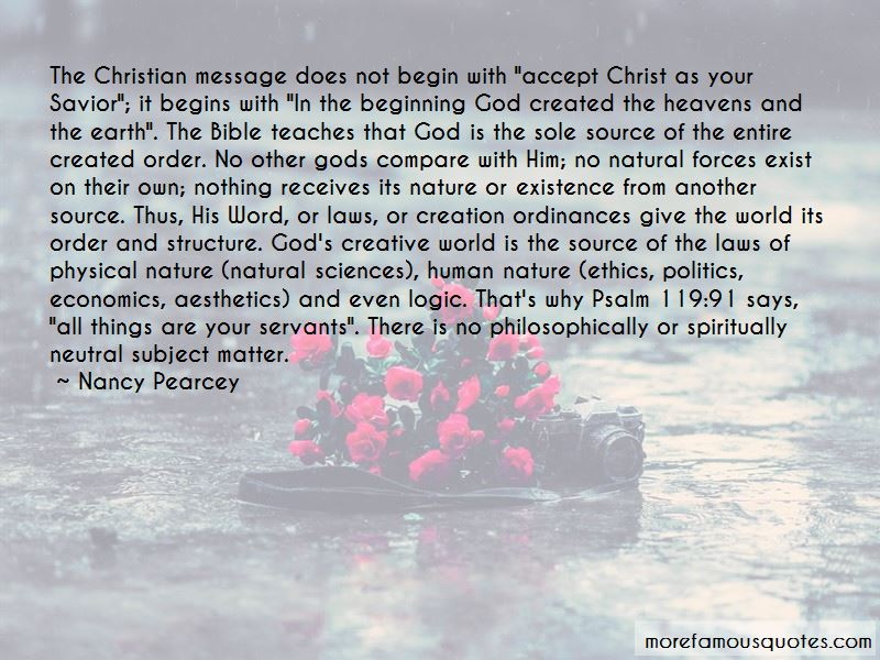 Quotes About God's Creation And Nature