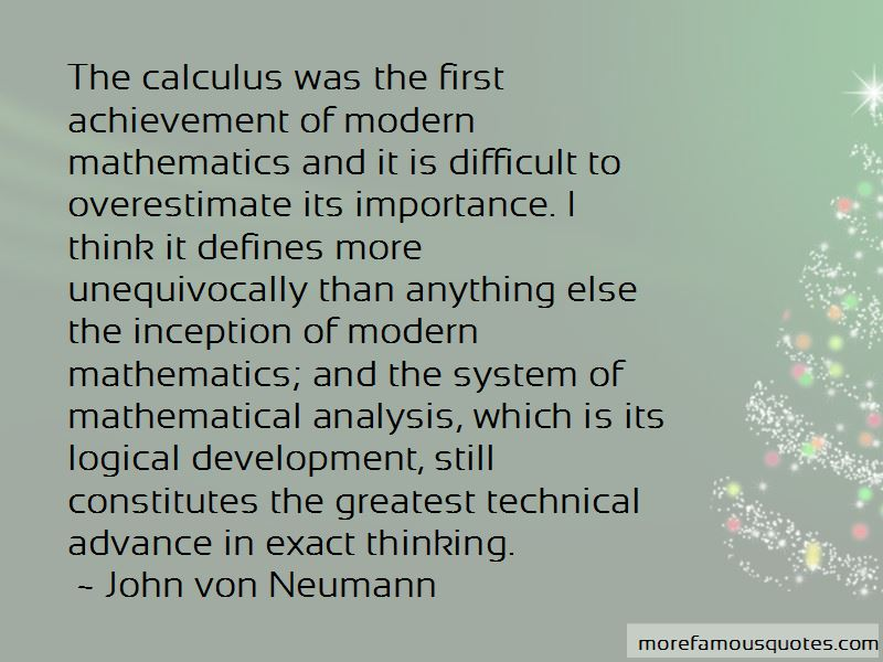 Quotes About Mathematical Analysis