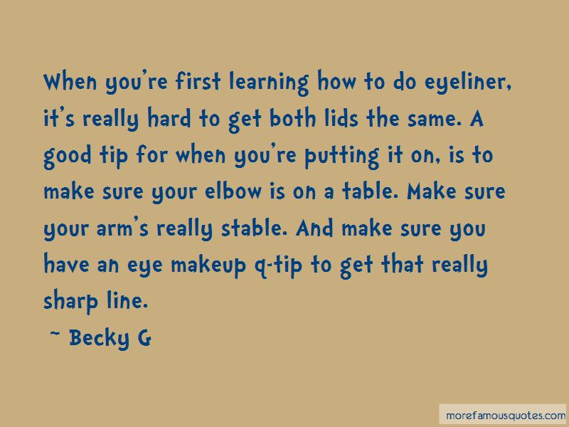 Quotes About Sharp Eyeliner
