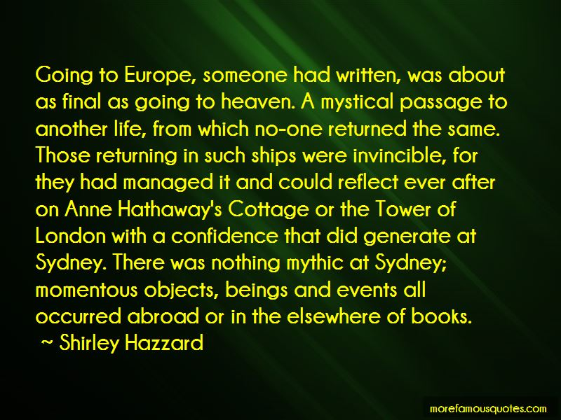 Quotes About Someone Going Abroad
