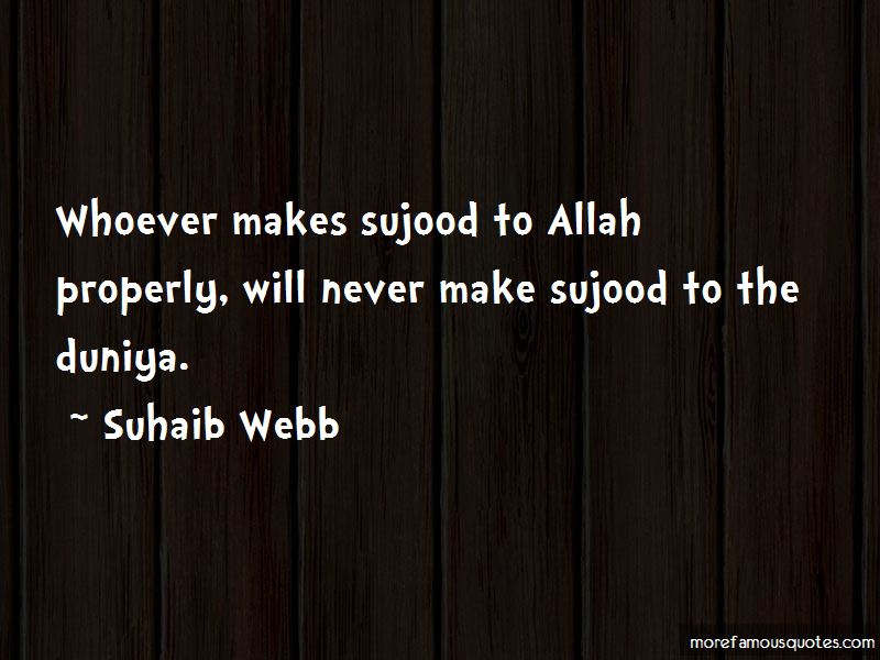 Quotes About Sujood
