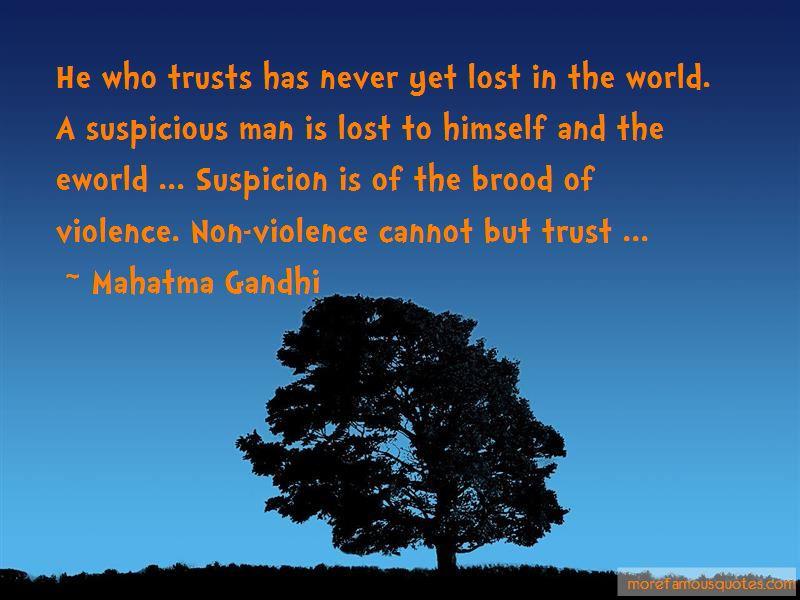 Quotes About Suspicion And Trust: top 28 Suspicion And ...