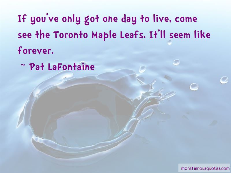 Quotes About The Toronto Maple Leafs