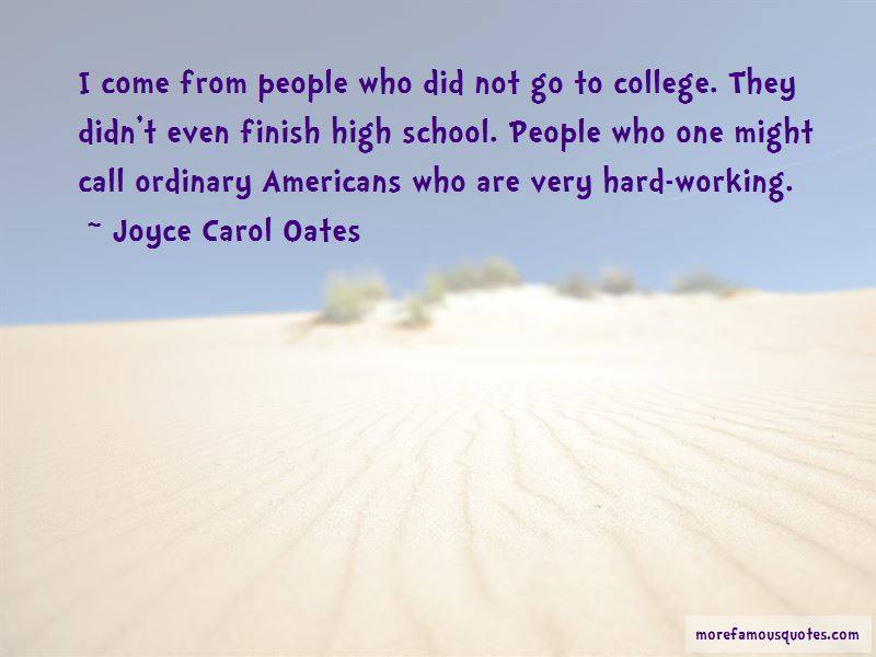 Quotes About Working Hard In High School