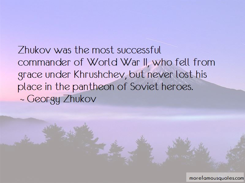 Quotes About Zhukov