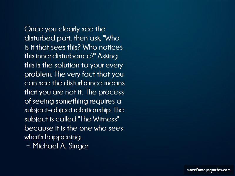 Relationship Disturbance Quotes
