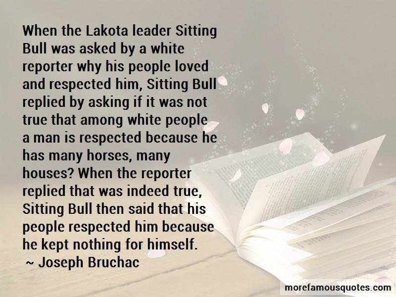Sitting Bull Lakota Quotes
