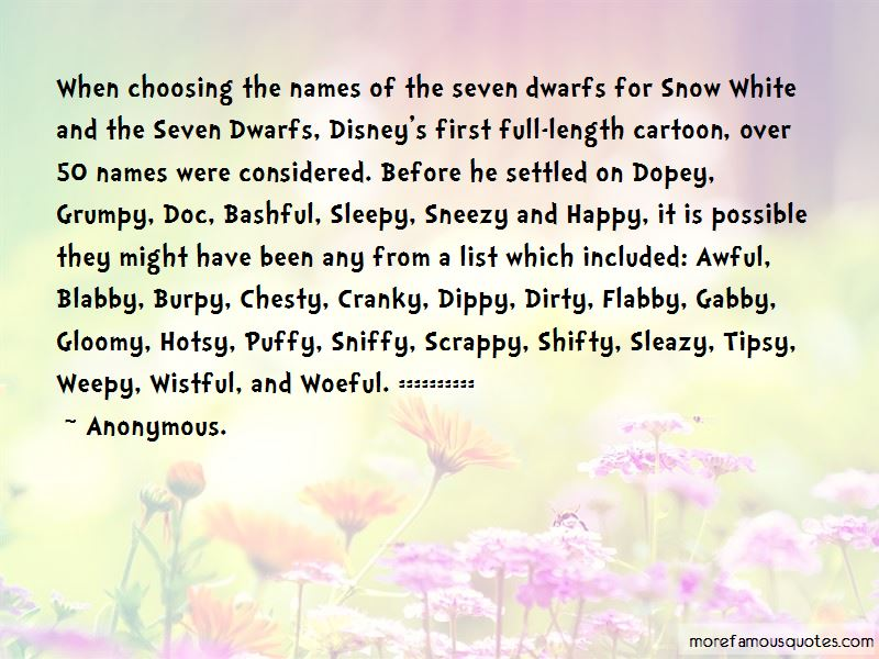 Snow White And The Seven Dwarfs Doc Quotes: top 1 quotes ...