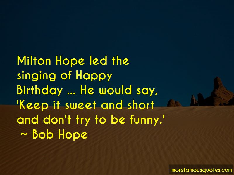 Sweet And Short Birthday Quotes