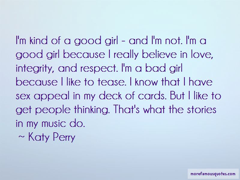 Bad But Good Girl Quotes