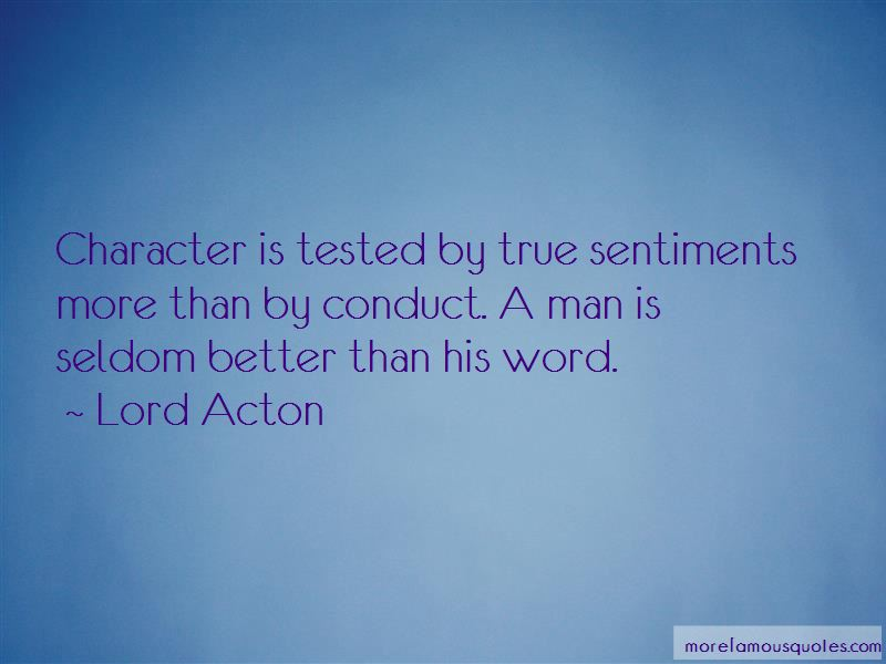 Character Is Tested Quotes