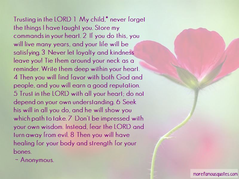Find Strength In The Lord Quotes
