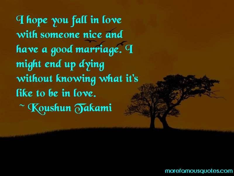 I Hope You Fall In Love Quotes