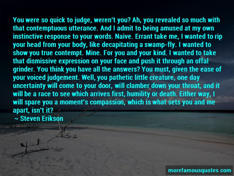 Instinctive Judgement Quotes