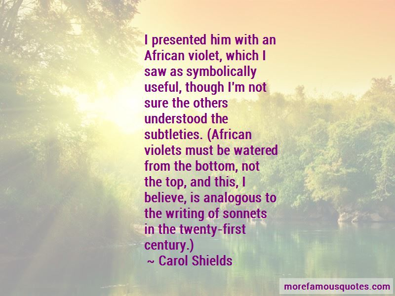 Quotes About African Violets: top 1 African Violets quotes from