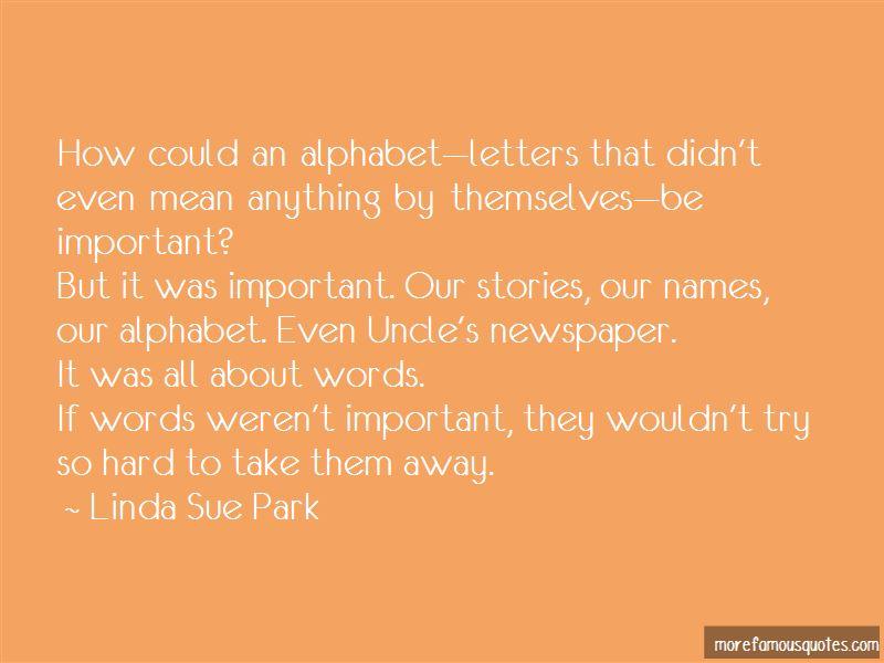 Quotes About Alphabet Letters