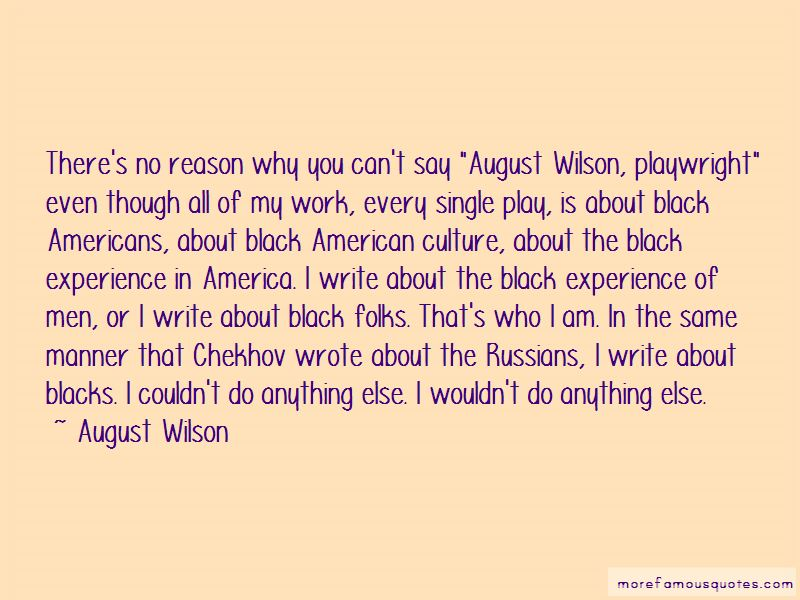 Quotes About August Wilson